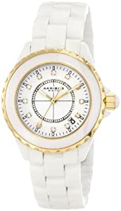 Akribos XXIV Women's AK500WTG Crystal Embellished Ceramic Watch with Three Interchangeable Bezels