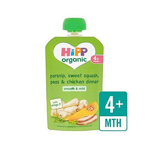hipp-organico-pastinaca-dolce-sacchetto-da-squash-e-cena-pollo-4-mths-100g-confezione-da-2