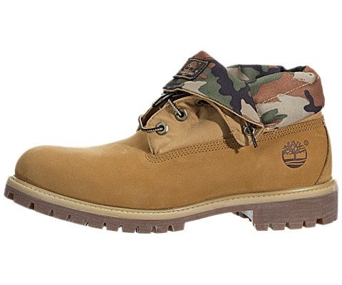 5732fce63335 Timberland Men s Wheat Nubuck with Camo Icon Roll-Top Leather and Fab 11 D(