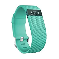 Fitbit Charge Heart Rate and Activity Wristband, Small (Teal)