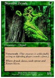 Magic: the Gathering - Shanodin Dryads - Seventh Edition - Foil