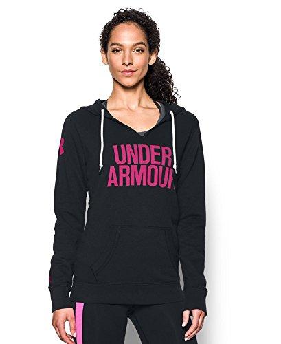 Under Armour Women's Favorite Fleece Word Mark Popover, Black (002), Small