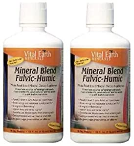 Vital Earth Minerals Mineral Blend Fulvic-Humic, 32 Fluid Ounce (2 Pack)