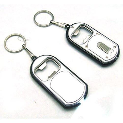 2-In-1 Mini Keychain 110091 White Led Small Flashlight Beer Bottle Opener Souvenir Keyring Multifunction Wholesale