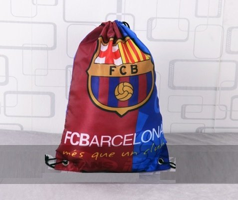 Barcelona Soccer Drawstring Gym Multipurpose Bag
