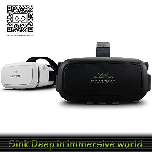 sunnypeak deluxe virtual reality headset vr helmet google cardboard v2 3d video games movie. Black Bedroom Furniture Sets. Home Design Ideas