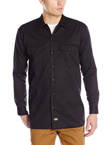 Dickies - Camicia a maniche lunghe uomo, Nero (Black), X Tall