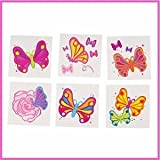 Butterfly Temporary Tattoos (144 pcs)