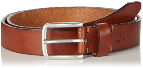 JACK & JONES Jjilee Leather Belt Noos, Cintura Uomo, Marrone (Mocha Bisque), 80 cm (Taglia Produttore: 80)