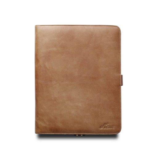 Acase 本革 ヴィンテージ レザーケース for new iPad / iPad 2 ブラウン (スタンド機能・角度調整機能付)