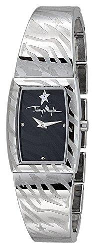 Thierry Mugler - 4722901 - Montre Femme - Quartz Analogique - Cadran Argent - Bracelet Métal Argent