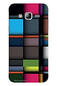 MiiCreations 3D Printed Back Cover for Samsung Galaxy J3,Colourful Pattern