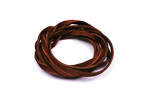 CraftPal LeatherCord Suede RedBrown