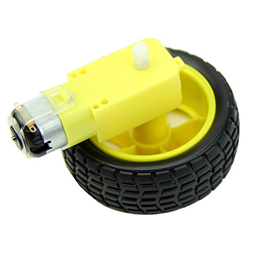 HeroNeo® Arduino Gear Motor with DC 3-12V High Quality Rubber Smart Car Robot Tire Wheel from HeroNeo®