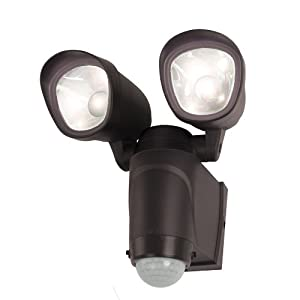 led motion sensor activated battery operated flood light wall mount. Black Bedroom Furniture Sets. Home Design Ideas