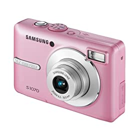 Samsung S1070 Digital Camera - Pink 2.7'' LCD: Amazon.co.uk: Electronics & Photo :  samsung camera pink photography 10mp