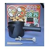 着脱式電気たこ焼器 18穴+たこ焼きセット(フッ素粉つぎ、木柄ヘリ引、18-0たこ焼き油引)