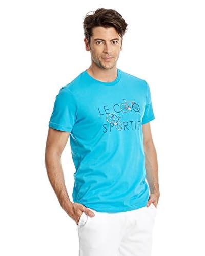 Le Coq Sportif T-Shirt Manica Corta Graphic [Turchese]
