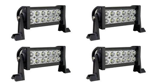 "Mictuning 4X Spot Beam 10-30V 7.5"" 36W Led Lights Bar Super Bright 2500 Lumen 2??4 Off Road Atv Suv Jeep"