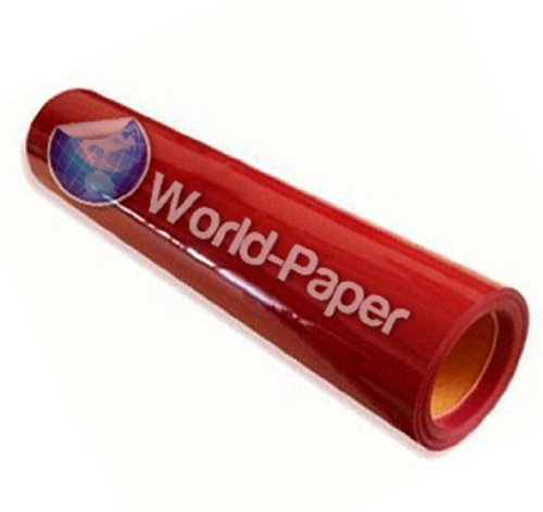 Heat Transfer Vinyl For Tshirts - 2 Yards Roll Of Vinyl Cut Material - Red front-1026390