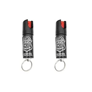 Police Magnum O C 17% Pepper Spray With Uv Dye And Twist Top 0.5-ounce Keyring Pack Of 2