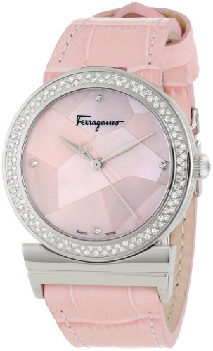 Ferragamo Women's FG2010013 Grande Maison Stainless Steel Pink Mother-Of-Pearl Diamond Watch