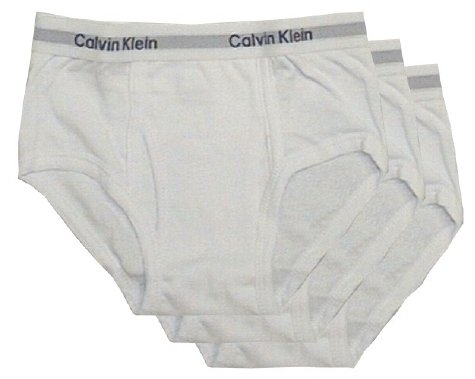 Buy Calvin Klein Boys White 3 Pack briefs for boys