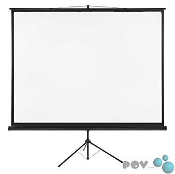 pov ecran de projection projection sur pied 240 x 180 180 cm format 4 3 photo. Black Bedroom Furniture Sets. Home Design Ideas
