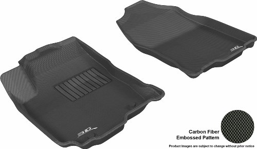 3D MAXpider Complete Set Custom Fit All-Weather Floor Mat for Select Audi Q5 Models Kagu Rubber Black