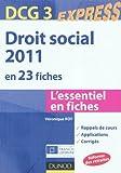 echange, troc Véronique Roy - Droit social 2011 - DCG 3 - 2e édition - en 23 fiches