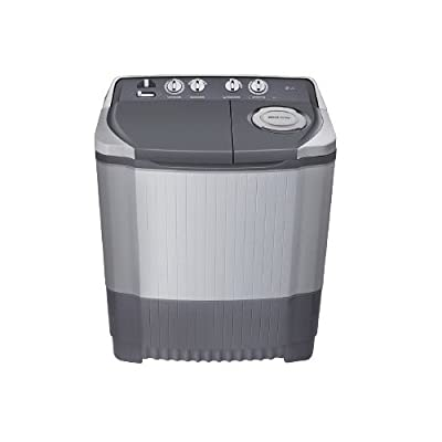 LG P7555R3F Semi-automatic Washing Machine (6.5 Kg, Dark Grey)