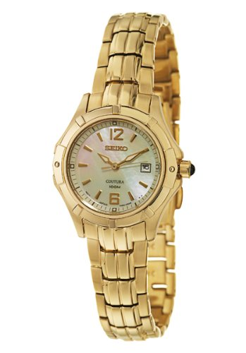 Seiko Women's SXDC94 Quartz Stainless Steel Mother-Of-Pearl Dial Watch