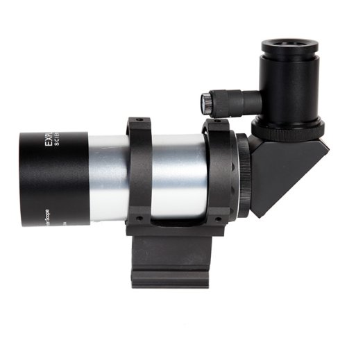 Explore Scientific 6 Field Of View 8X50 Polar Illuminated Erect Image Finder Scope; 90 Eyepiece; Bracket (Base Sold Separately) (Silver In Color)