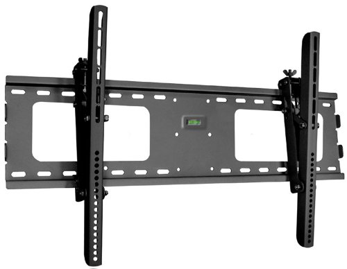 "Black Adjustable Tilt/Tilting Wall Mount Bracket For Jvc Emerald Series W/ Roku Em55Ftr 55"" Inch Led Hdtv Tv/Television"