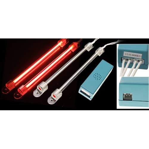 2 x Red 6 1/4 Car CCFL Cold Cathode Neon Tube Light Lamps