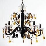 Light n Lux Pendant light(H:60, Dia: 58cm, black ,iron)