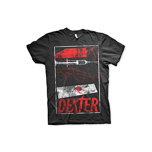 Officially Licensed Merchandise Dexter Signs T-Shirt (Black), Medium