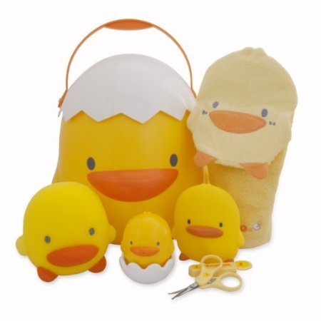 Piyo Piyo Bathing Toddler Gift Set (Baby Bath Gift Set)