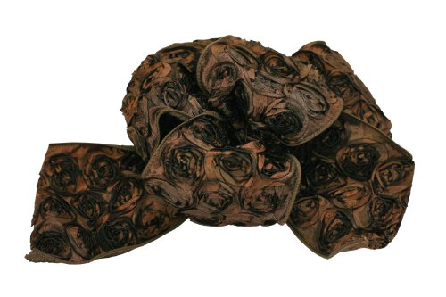 Offray Wired Edge Love Knots Craft Ribbon, 4-Inch by 10-Yard Spool, Chocolate