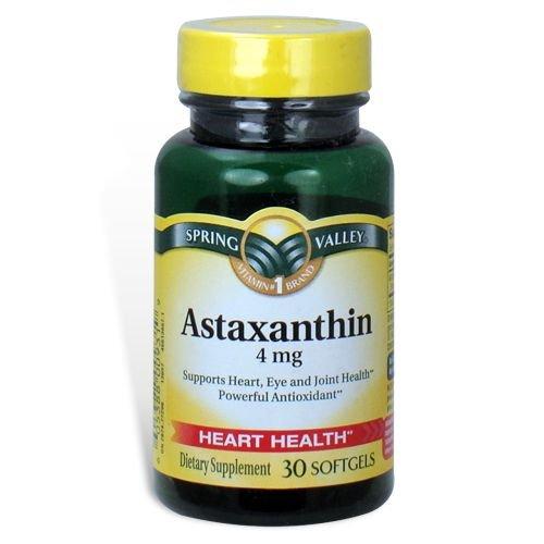 Spring Valley - astaxanthine 4 mg, 30 gélules