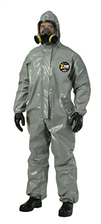 Kappler Zytron 200 Chemical Protection Coverall, Disposable, Elastic Cuff, Gray, 2X-Large - 3X-Large (Pack of 1)