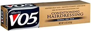 Alberto VO5 Conditioning Hairdressing, Normal/Dry Hair, 1.5-Ounces (Pack of 6)