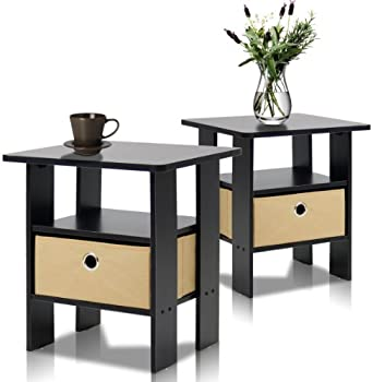 Furinno Petite End Table Bedroom Night Stand