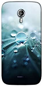 Snoogg Pure Dew Designer Protective Back Case Cover For Micromax A117