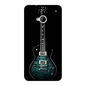 Enticing Greenish Print Guitar Back Case Cover for HTC One M7