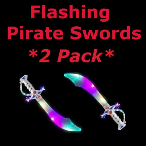 Flashing LED Buccaneer Pirate Sword *2pack*