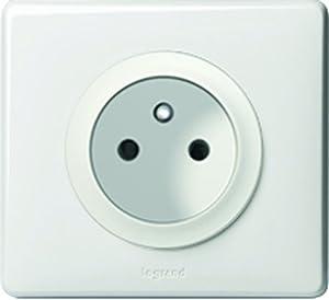 Legrand celiane leg99951 prise de courant avec terre 2p t complet blanc bricolage - Prise electrique en anglais ...