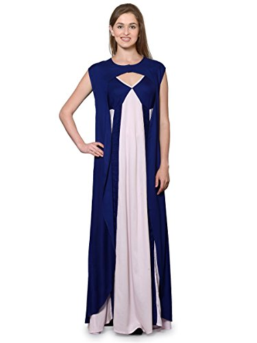 Patrorna-Two-Piece-Navy-Blue-and-Pink-with-Stylish-Robe-Natural-Fabric-Nighty