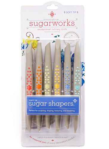 Innovative Sugarworks Soft Tip Shapers Cake Decorating Unique Tools (Pack of 6), Light Gray