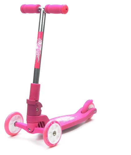 Pink 3 Wheel Folding Scooter